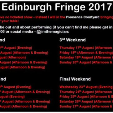 Edinburgh Fringe – 1st Weekend (& trip to Glasgow Science Centre)