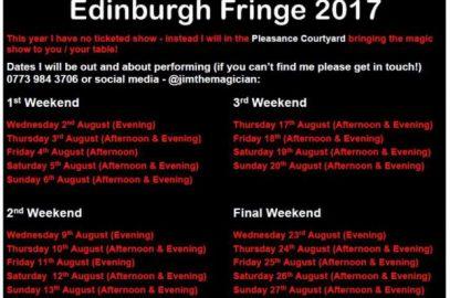 Edinburgh Fringe – 1st Weekend (& trip to Glasgow Science Centre)