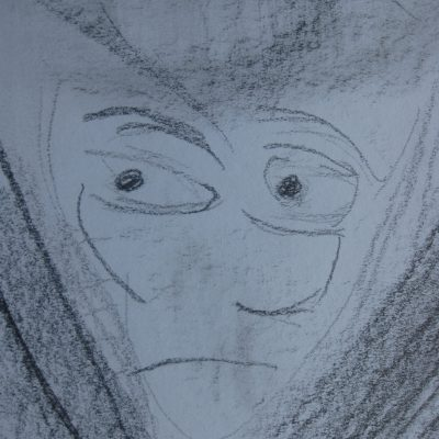 Drawing 4 - This is not a face, but a naked woman!